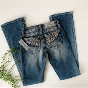 Miss Me Signature Boot Cut Jeans with wings